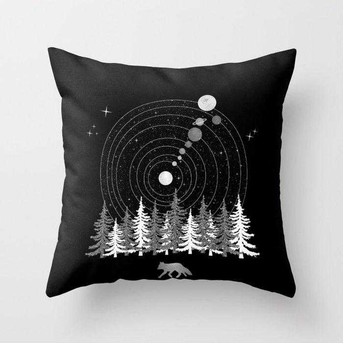Alone Time - Solar System Nature Fox Deko-Kissen