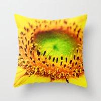 sunflower Throw Pillows featuring Sunflower by Falko Follert Art-FF77