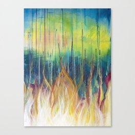 Farfetched Flames Canvas Print