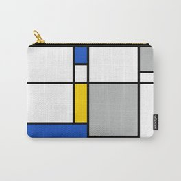 Mondrian Style Color Composition Carry-All Pouch