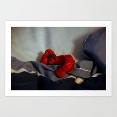 Red Hulk Go Nigh Night Art Print