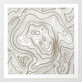 Topo Lines Art Print