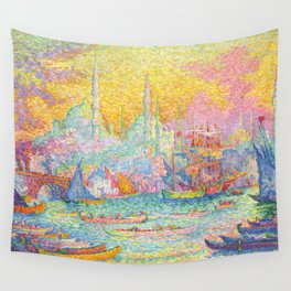 "Paul Signac ""La Corne d'Or - Constantinople"" Wall Tapestry"
