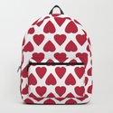 Red hearts on a white background. by decoli