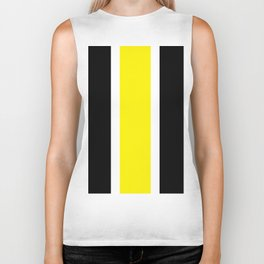 TEAM COLORS 10....YELLOW,BLACK Biker Tank