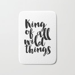 King of All Wild Things Printable Newborn Gift for baby Nursery Art Little Boy's Room Bath Mat