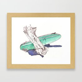 Surf and Turf Framed Art Print