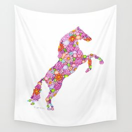 Rosey Horse Wall Tapestry
