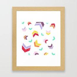 Short Arrow Color Framed Art Print