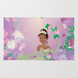 tiana in the flowers Rug
