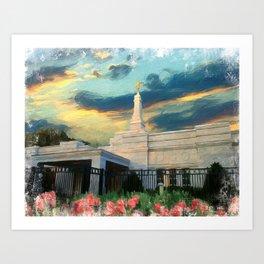 Baton Rouge Louisiana LDS Temple Art Print