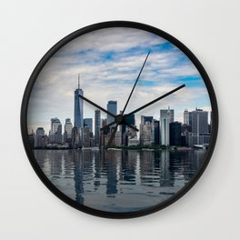 Dramatic skyline of New York City Wall Clock