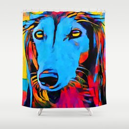 Saluki Portrait Shower Curtain