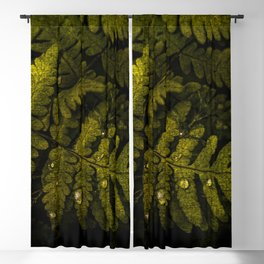 Textured fern leaf Blackout Curtain