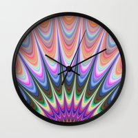 sunrise Wall Clocks featuring Sunrise by David Zydd