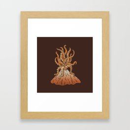 Sticky Eruption Framed Art Print