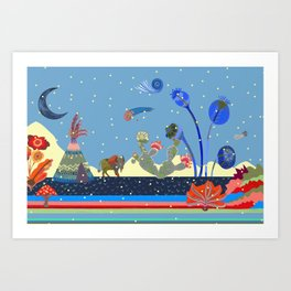 At night Art Print