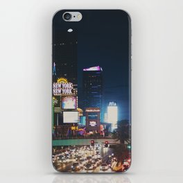 night time on the strip ... iPhone Skin