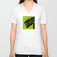 queen V-neck T-shirts featuring Queen by Artistic Dyslexia
