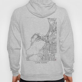 Cape Town Map White Hoody