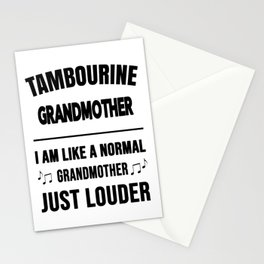 Tambourine Grandmother Like A Normal Grandmother Just Louder Stationery Cards