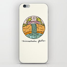 minnehaha falls illo iPhone Skin