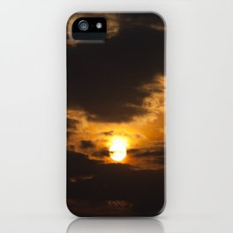 the sky at sunset iPhone Case