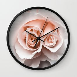 Rose with two centres | Blush Pink Bedroom Art Wall Clock