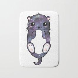 Chibi Galaxy Otter Bath Mat