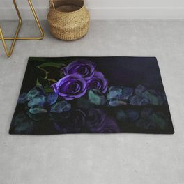 Three Purple Roses Rug