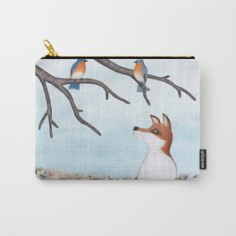 fox and eastern bluebirds Carry-All Pouch