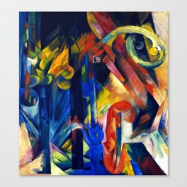 """Franz Marc """"Forest with squirrel"""" Canvas Print"""
