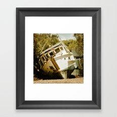 Boat in need of repair Framed Art Print