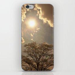 nature..sun..clouds..trees iPhone Skin