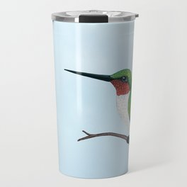 the studious male (ruby-throated hummingbird) Travel Mug