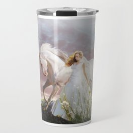 Lady in White Travel Mug