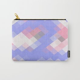 Abstract Square Pattern Pastel Carry-All Pouch