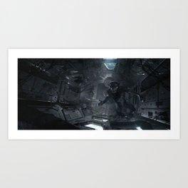 Feral Orbit - A Close Encounter Art Print