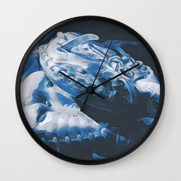 Catching the Blues Wall Clock