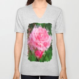 Pink Roses in Anzures 2 Art Triangles 2 Unisex V-Neck