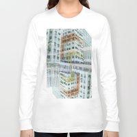 hong kong Long Sleeve T-shirts featuring Hong Kong Apartments by Eugene Lee