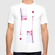 Two drops MEDIUM White Mens Fitted Tee