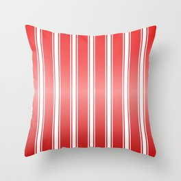 Red Racing Stripes Throw Pillow