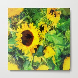 sunflowers amsterdam Metal Print