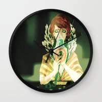transistor Wall Clocks featuring Sing for Me by Monica Selva