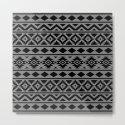 Aztec Essence Ptn III Black on Grey by nataliepaskell