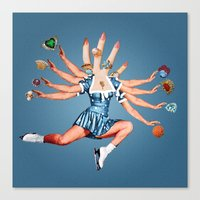Canvas Prints featuring Kali by Eugenia Loli