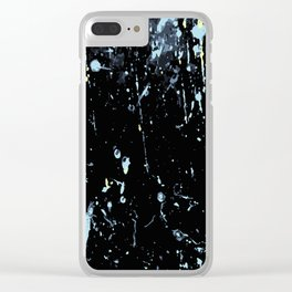 Decay Pattern, Black with Splash Clear iPhone Case