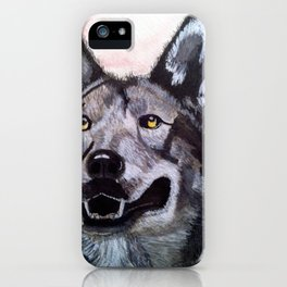 Wolf in Red iPhone Case