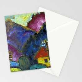 """Small Landscape with Telegraph Masts"""" 1012 Stationery Cards"""